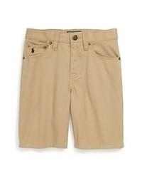 Pantaloncini marrone chiaro