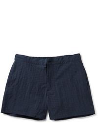 Pantaloncini scozzesi blu scuro