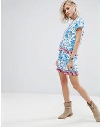 Pantaloncini stampati azzurri di Glamorous