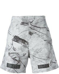 Pantaloncini stampati grigi