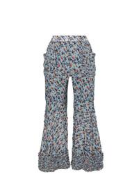 Pantaloni a campana a fiori azzurri di Chloé