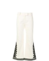 Pantaloni a campana bianchi di Tory Burch