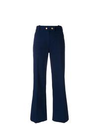 Pantaloni a campana blu scuro di Tory Burch