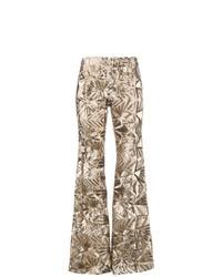 Pantaloni a campana con paillettes dorati di P.A.R.O.S.H.