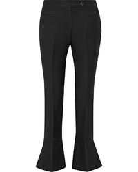Pantaloni a campana di lana neri