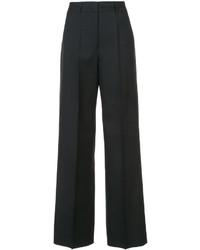 Pantaloni a campana di lana neri di Jil Sander