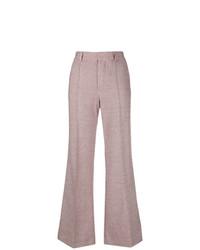Pantaloni a campana di lana rosa di See by Chloe