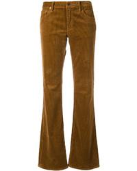 Pantaloni a campana di velluto a coste marroni di Ralph Lauren