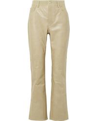 Pantaloni a campana in pelle marrone chiaro di Acne Studios
