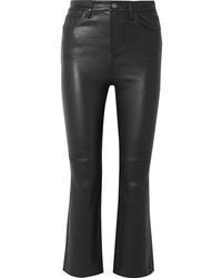 Pantaloni a campana in pelle neri di Current/Elliott