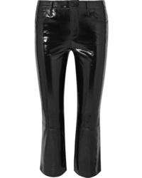 Pantaloni a campana in pelle neri di J Brand