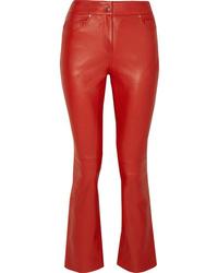 Pantaloni a campana in pelle rossi di Stand