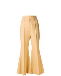 Pantaloni a campana marrone chiaro di Chloé