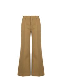 Pantaloni a campana marrone chiaro di See by Chloe