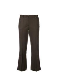 Pantaloni a campana marrone scuro di P.A.R.O.S.H.