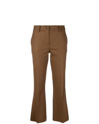 Pantaloni a campana marroni di P.A.R.O.S.H.