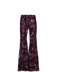 Pantaloni a campana melanzana scuro di P.A.R.O.S.H.