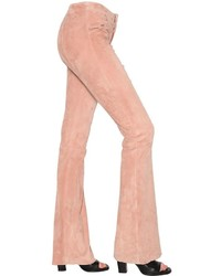 Pantaloni a campana rosa