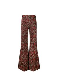 Pantaloni a campana stampati bordeaux di Chloé