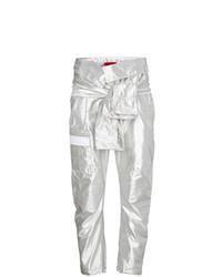 Pantaloni cargo argento di Ronald Van Der Kemp