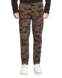 Pantaloni cargo mimetici marroni