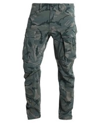 Pantaloni cargo mimetici verde oliva
