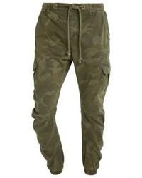 Pantaloni cargo mimetici verde oliva di Urban Classics