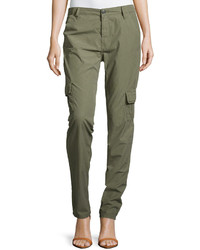 Pantaloni cargo verde oliva
