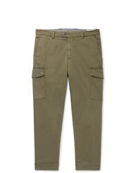 Pantaloni cargo verde oliva di Brunello Cucinelli