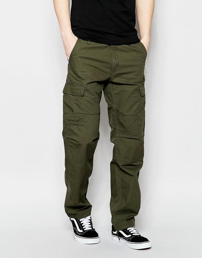 Favoloso Pantaloni cargo verde oliva di Carhartt | Dove acquistare & come  ZK76