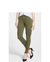 Pantaloni cargo verde scuro