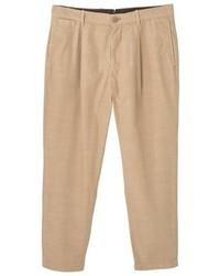 Pantaloni chino marrone chiaro di Mango