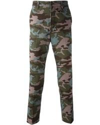 Pantaloni chino mimetici verde scuro di Givenchy