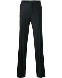 Pantaloni di lana blu scuro di Ermenegildo Zegna