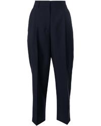 Pantaloni di lana blu scuro di Jil Sander