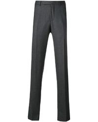 Pantaloni di lana grigio scuro di Ermenegildo Zegna