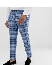 Pantaloni eleganti a quadri blu di Twisted Tailor