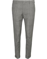 Pantaloni eleganti a quadri grigi