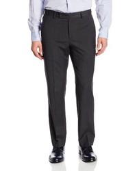 Pantaloni eleganti a quadri grigio scuro