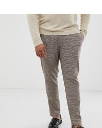 Pantaloni eleganti a quadri marroni di ASOS DESIGN