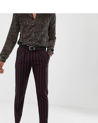 Pantaloni eleganti a righe verticali blu scuro di Heart & Dagger