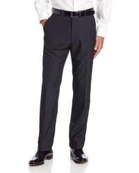 Pantaloni eleganti a righe verticali grigio scuro