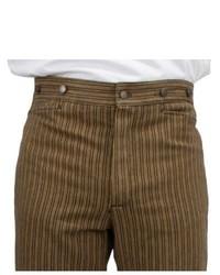 Pantaloni eleganti a righe verticali marroni