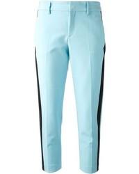 Pantaloni eleganti azzurri