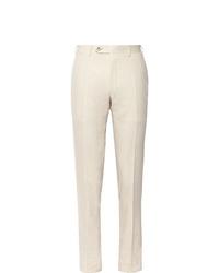 Pantaloni eleganti beige di Canali