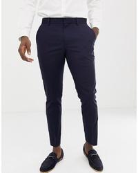 Pantaloni eleganti blu scuro di Burton Menswear