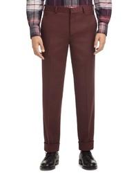 Pantaloni eleganti bordeaux