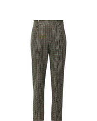 Pantaloni eleganti con motivo pied de poule marroni di Acne Studios