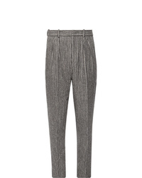 Pantaloni eleganti di lana a righe verticali grigi di Isabel Marant