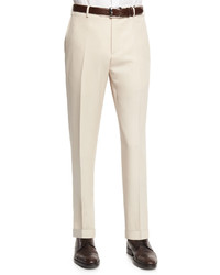Pantaloni eleganti di lana beige